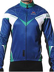 preiswerte -Mysenlan Herrn Langarm Fahrradtrikot - Schwarz Dunkelblau Rot Blau Fahhrad Trikot/Radtrikot Jacke, warm halten, Fleece Innenfutter