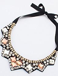 abordables -Femme Strass Colliers Déclaration  -  Luxe Forme Géométrique Arc-en-ciel Colliers Tendance Pour Soirée