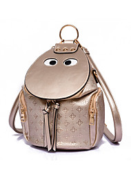 Women Bags All Seasons PU Backpack for Shopping Casual Outdoor Gold Black Beige