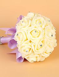 cheap -Elegant Lilac Handmade Wedding Brooch Bouquets Bridal Bouquet