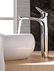 cheap -Contemporary Deck Mounted Ceramic Valve One Hole Single Handle One Hole Chrome, Bathroom Sink Faucet