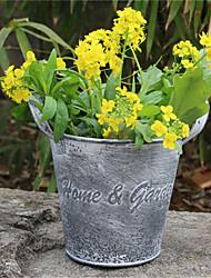 baratos -jardim decorativo flor pot criativo casa mobiliário pouso retro fazer ornamentos de estanho velhas