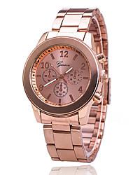 baratos -Xu™ Mulheres Relógio de Pulso Relógio Casual Aço Inoxidável Banda Amuleto / Fashion / Relógio Elegante Prata / Dourada / Ouro Rose