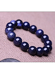 Blue Starry Sky Natural Genuine Crystal Gemstones Tibetan Beaded Strand Bracelet,Unisex Jewelry Christmas Gifts