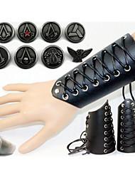 preiswerte -Schmuck Inspiriert von Assassin's Creed Cosplay Anime/ Videospiel Cosplay Accessoires Abzeichen / Ring Schwarz Legierung / Lackleder Mann
