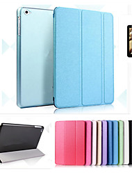 cheap -Case For Apple iPad Mini 4 iPad Mini 3/2/1 iPad 4/3/2 iPad Air 2 iPad Air with Stand Auto Sleep / Wake Origami Full Body Cases Solid Color