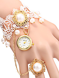 cheap -Women's Elegant Pearl Design Bracelet Quartz Wristwatch Cool Watches Unique Watches