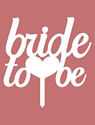 a noiva para ser cartas de bolo topper-2 recepção de casamento elegante