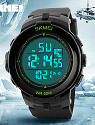 cheap -SKMEI® Big LCD Display Alarm Stopwatch Rubber Band Sports Watch Cool Watch Unique Watch