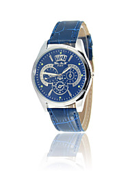 Symphony blue fashion lovers quartz watch brand upscale Men's leather watches three six-pin female models Wrist Watch Cool Watch Unique Watch