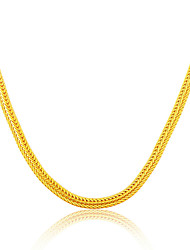 cheap -18K Gold Plated & Platinum Men Jewelry Wholesale 6. 33MM Wide Snake Chain Necklace N50118