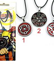 Jóias Inspirado por Naruto Fantasias Anime Acessórios de Cosplay Colares Vermelho Liga Masculino