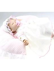 Недорогие -NPK DOLL Куклы реборн Дети 18 дюймовый Силикон Винил - Новорожденный как живой Милый стиль Ручная работа Безопасно для детей Non Toxic Детские Девочки Игрушки Подарок / CE / Естественный тон кожи