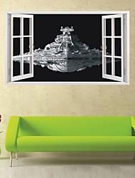 Cartoni animati / Natura morta / Militare / Fashion / Forma / Vintage / Fantasia / 3D Adesivi murali Adesivi 3D da parete , PVC 60*100cm