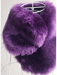 cheap -Sleeveless Faux Fur Wedding Party Evening Casual Office & Career Faux Leather Fur Accessories Shawls Scarves
