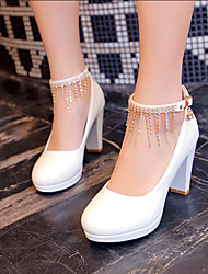 Women's Shoes Heel Heels / Platform Heels Wedding / Party & Evening / Dress Black / Red / White