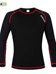 Недорогие -WOSAWE Универсальные Длинный рукав Черный / красный Велоспорт Основной слой Джерси Компрессионная одежда Сохраняет тепло Виды спорта Зима Полиэстер 100% полиэстер Флис / Эластичная
