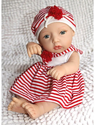 baratos -boneca reborn npkdoll difícil silicone 11inch 28 centímetros menina vermelho-branco à prova de água