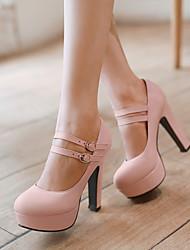 お買い得  -女性用 靴 レザーレット 春 / 夏 スティレットヒール / プラットフォーム パープル / グリーン / ピンク / ドレスシューズ