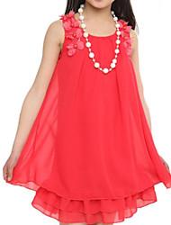 Vestito Girl Estate Raso / Di pizzo Rosa Fantasia floreale