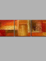 economico -dipinto a mano stile astratto pittura a olio 3 pannelli decorazione della casa