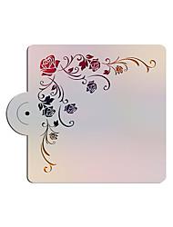 cheap -Square Rose Design Fondant Cake Deorationg Stencil,Cake Top Stencil Template,Wedding Cake Stencil Wall Stencils ST-3179