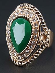 Prsteny s kamenem Zirkon Slitina Módní Bohemia Style Červená Zelená Šperky Párty 1ks