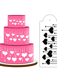 cheap -Heart Decoration Cake Stencil,Cake Top Stencil Decoration,Cake Side Decorating Stencils,Fondant Mold Cake ToolsST-D-03