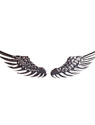 voiture pate métal stéréo pate ange ailes autocollants pour voiture argent
