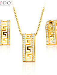 cheap -Men's Jewelry Set - Gold Plated Include Gold For Wedding / Party / Daily / Earrings / Necklace / Crystal