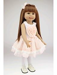 "cheap -18"" Reborn Baby Doll Toys Handmade Child Safe lifelike Non Toxic Newborn Silicone PVC Vinyl Pieces"