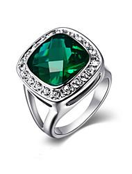 Damen Statementringe Kristall Imitation Smaragd Modisch Modeschmuck Aleación Schmuck Für Party