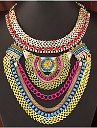 cheap -Women's Fashion Statement Jewelry Multi Layer European Statement Necklace Layered Necklace Alloy Statement Necklace Layered Necklace ,