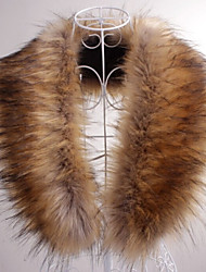 cheap -Sleeveless Faux Fur Party Evening / Casual Fur Wraps / Fur Accessories / Faux Leather Collars
