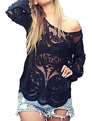 cheap -Women's Halter Cover-Ups , Solid One-Pieces Lace Beige / Black