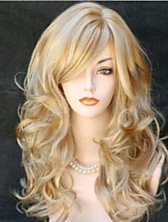 Popular Cartoon Wig Long Curly Animated Blonde Short Synthetic Hair Wig
