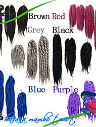 Dark Brown / Medium Brown / Strawberry Blonde / Light Auburn / grey / blue / purple / Red / #1B Havana Twist Braids Hair Extensions