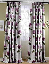 Cheap Rod Pocket Grommet Top Double Pleat Pencil Two Panels Curtain Country Print