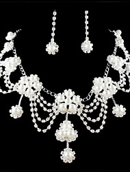 cheap -Women's Rhinestone Imitation Pearl Jewelry Set Include Earrings Necklaces - Alloy For Wedding Party Special Occasion Anniversary Birthday