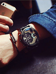 cheap -Men JIS watch Quartz Waterproof Sports Watch Calendar Genuine Leather Wristwatch montre reloj relogio(Assorted Color) Cool Watches Unique Watches