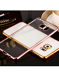 economico -per la galassia s8 inclusa placcatura trasparente fondello caso della copertura di colore solido TPU Samsung s7 s7 bordo s8