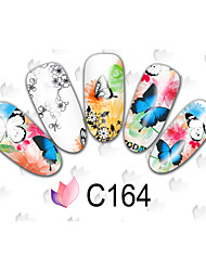 50 Adesivos para Manicure Artística Transferência de água adesivo Flor Desenho Adorável maquiagem Cosméticos Designs para Manicure