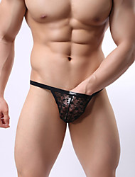 Men's Transparent Through Sexy Low Waist Thong Underwear