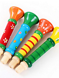 cheap -Wood Colorful Trumpet Loudspeaker Toys Musical Instruments Music Toys for Kids