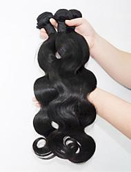 economico -Cappelli veri Brasiliano Ciocche a onde capelli veri Ondulato naturale Extensions per capelli 3 pezzi Nero