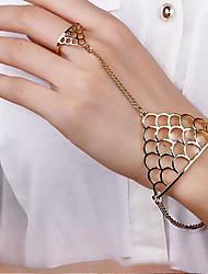 cheap -Lucky Doll Women's All Matching  Geometric Bracelet & Ring One Piece