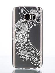 economico -Custodia Per Samsung Galaxy Samsung Galaxy S7 Edge Transparente / Fantasia / disegno Per retro Fiore decorativo TPU per S7 Active / S7 plus / S7 edge