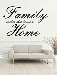 Wall Stickers Wall Decals Style Family Home English Words & Quotes PVC Wall Stickers
