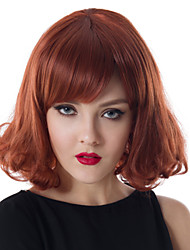 Middle Length Wave Hair European Weave Light Brown Color Hair Wig