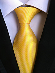 cheap -New Bright yellow Classic Formal Men's Tie Necktie Wedding Party Gift TIE0142
